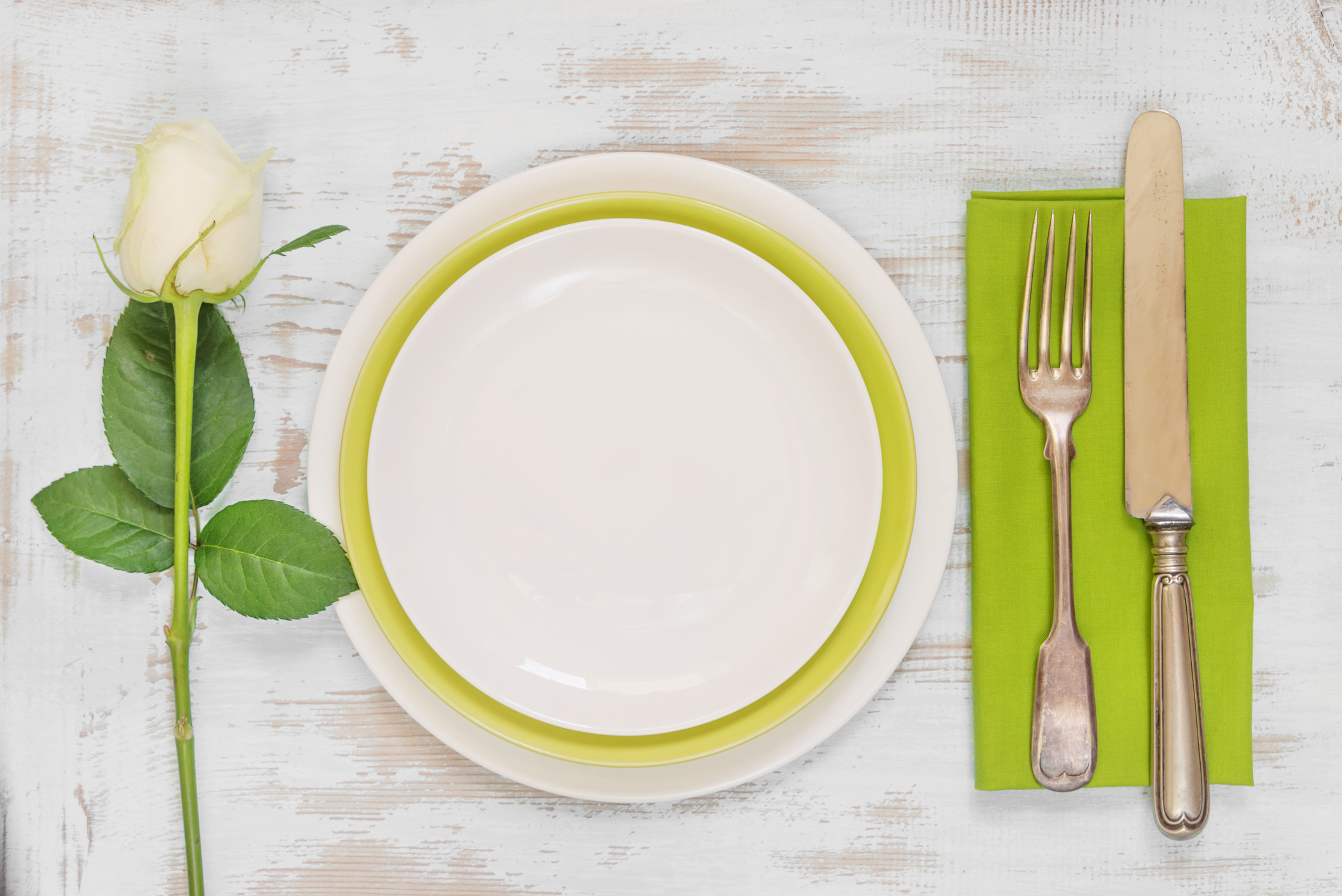 Table setting for a St. Patrick's Day dinner party